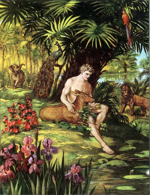 Adam in the garden of eden for Adan y eva en el jardin del eden