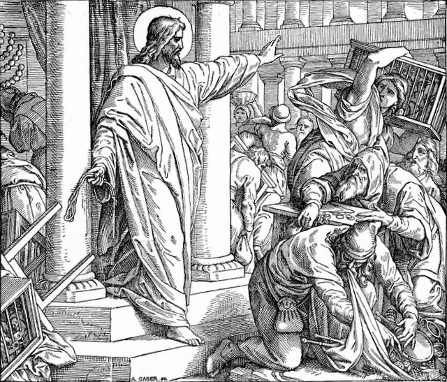 Jesus Throwing the Money Changers Out from the Temple